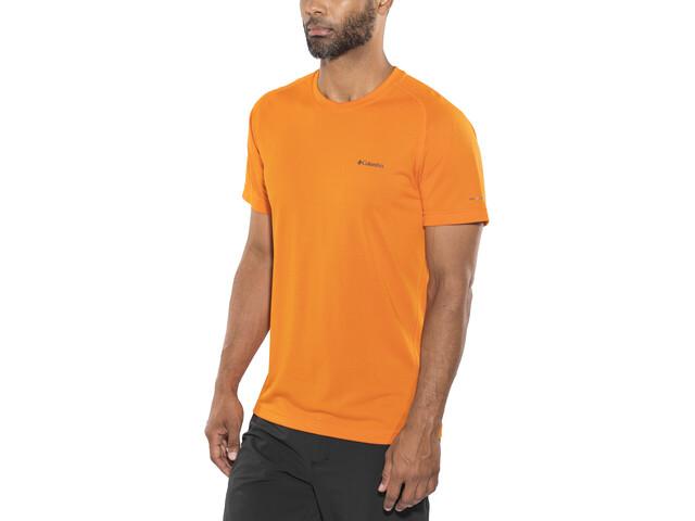 Columbia Mountain Tech III T-shirt à col ras-du-cou Homme, heatwave